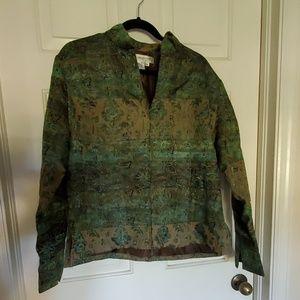 Coldwater Creek zip up jacket blazer